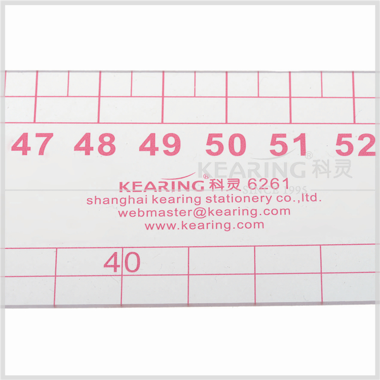 Kearing brand 61cm Flexible french curve ruler for designers, plastic tailor curve ruler #6261