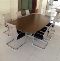 Luxury conference table with breaking castors