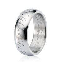 Fashion trend jewelry 316L surgical stainless steel pattern band ring for men women