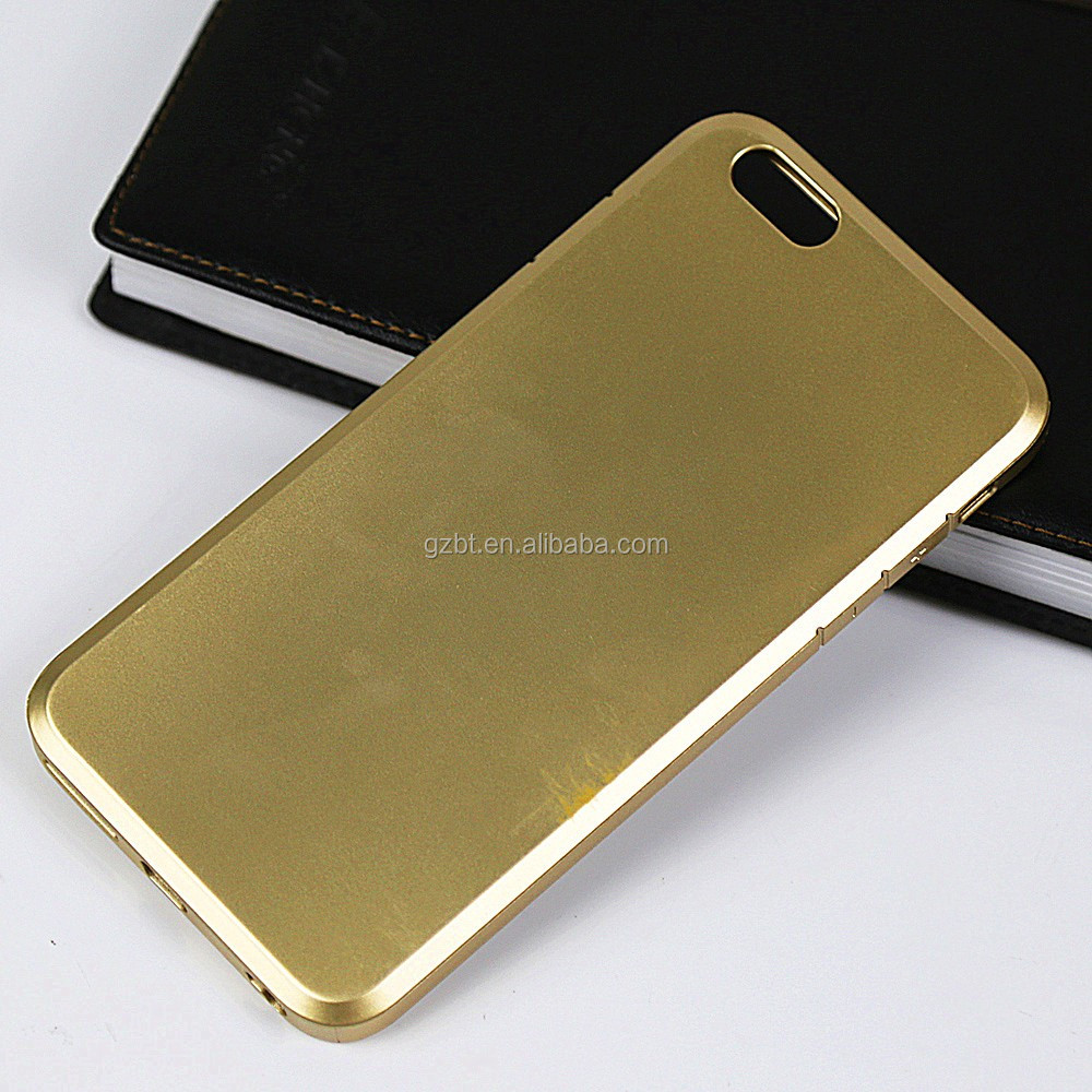 For iphone 6 plus metal oil rubberized soft rubber cellphone bumper