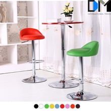 2016 colorful leather swivel led bar chair with backrest