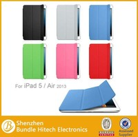 Hot selling For iPad Air Smart Cover ,for iPad Air Case, Colorful slim cover Case for iPad Air