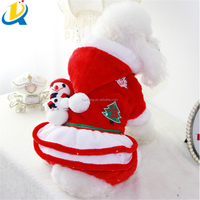 Christmas funny dog clothes red pet clothes of dog
