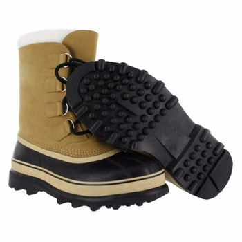 Ladies Rubber Sole Leather Waterproof Snow Boots 2017