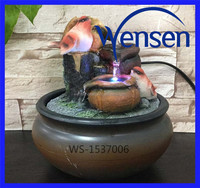 small water fountain polyresin indoor/outdoor decoration with LED light water falls