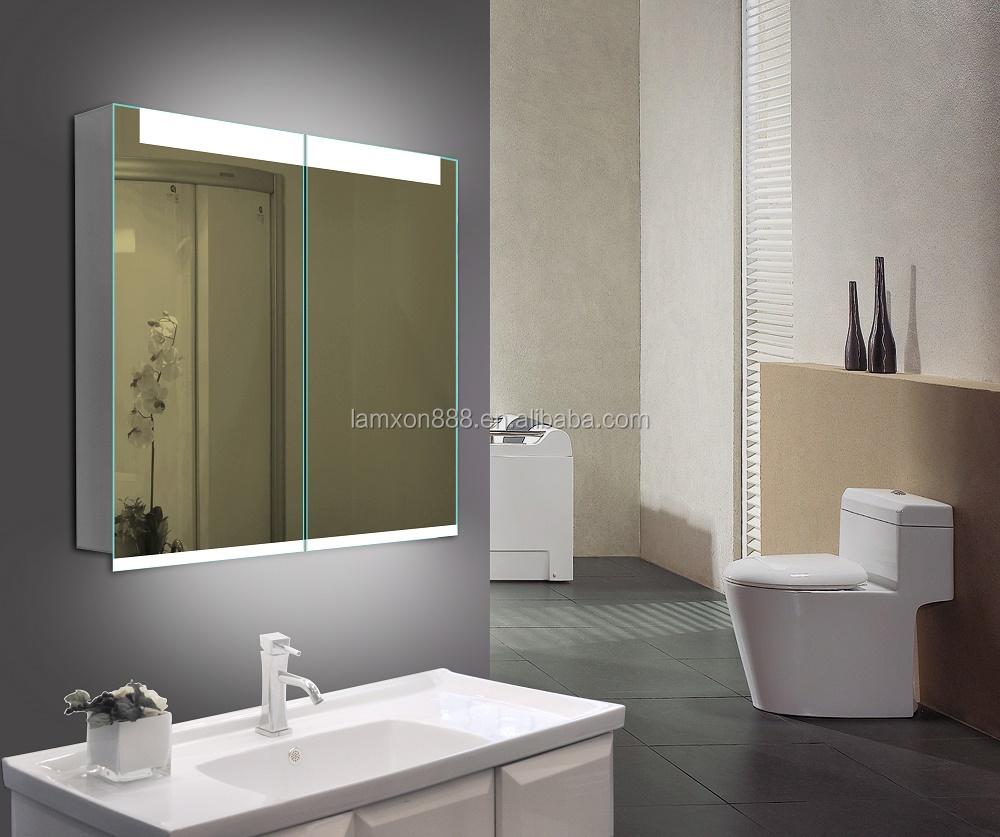 best seller led lighted bathroom mirror cabinet for modern. Black Bedroom Furniture Sets. Home Design Ideas