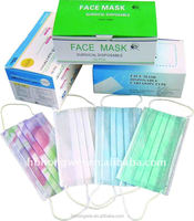 Hot sale disposable 3 ply medicall face mask with earloop or tie
