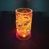 Party favor Liquid induction Glass Led Flashing cup light up glowing LED cup