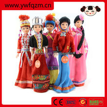 wooden wedding chinese minority doll