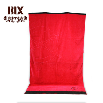 70*140 jumbo super cheap wholesale beach towels high quality rectangle velour beach towel with fringe