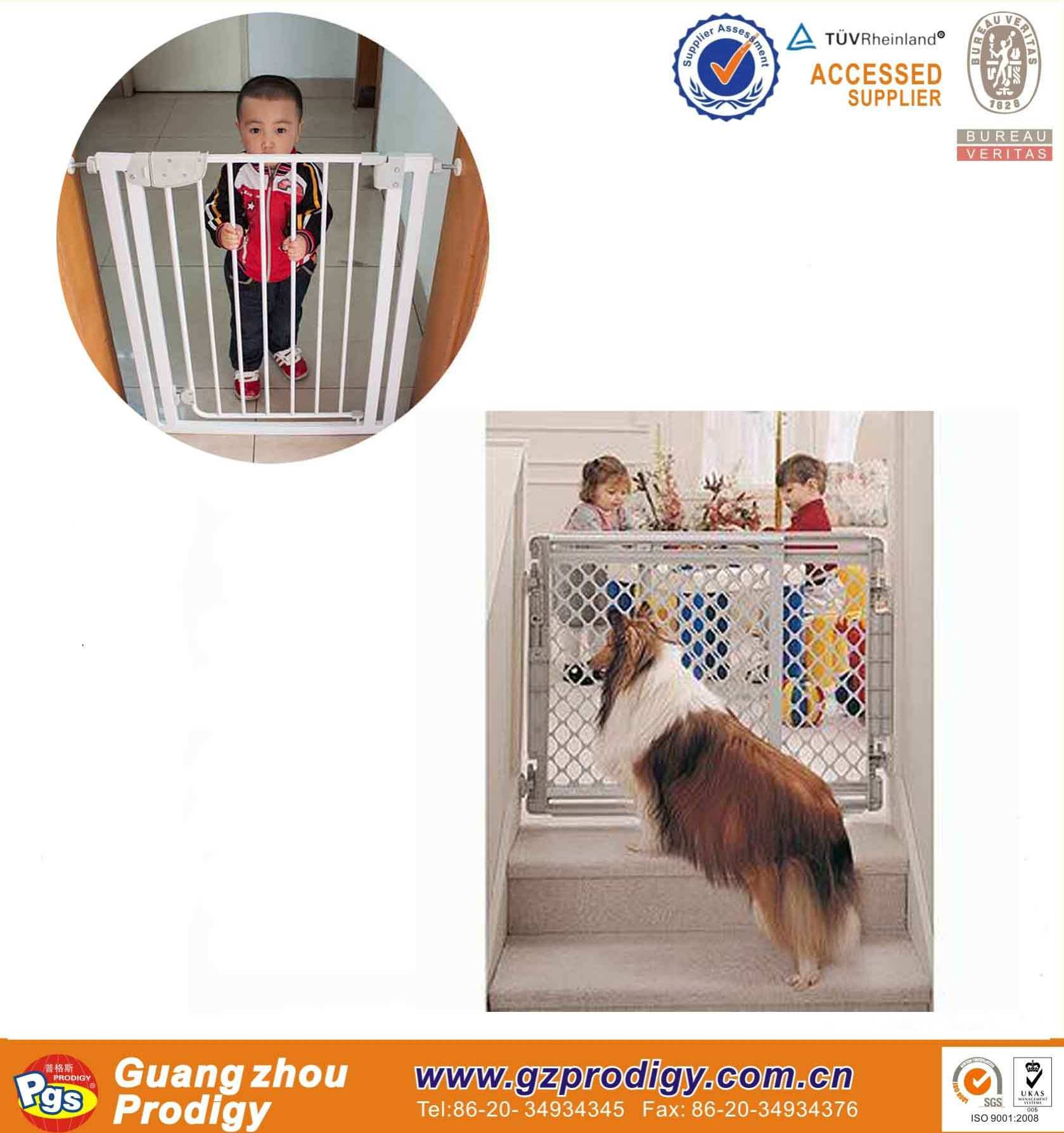 ISO9001:2008 certificate metal fence/ pet friendly baby gate