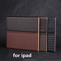 Free Sample Business Hand-made Woven Pattern PU Leather Case For Ipad Mini 1