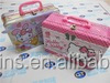 hello kitty tin lunch box for kids with plastic handle