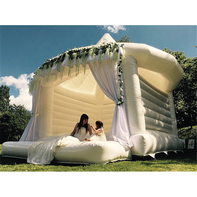 Hot sale Commercial Jumping bouncer Bounce House Inflatable Jumper white bouncy castle for wedding
