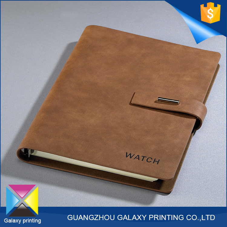 China supplier high quality diary <strong>printing</strong> companies korean pu leather notebook with button