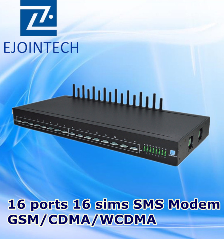 Ejointech 16 port channels gsm modem, send and receive sms free sms sms free