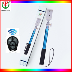selfie stick baton wireless bluetooth with remote controll and charger jack for mobile accessory