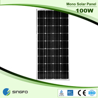 100W Monocrystalline Solar panel with 125*125 solar cells