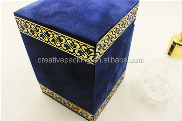 Custom Design Velvet Flock Perfume Box