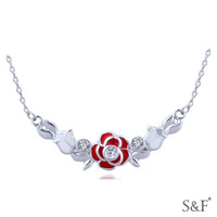 H30479 Free Shipping necklace 925 sun silver jewelry