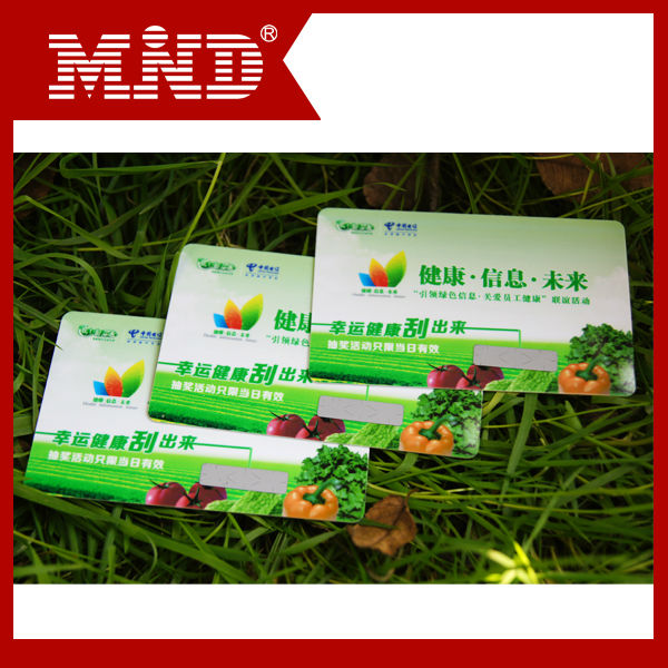 MDC1 OEM professional scratch off card paper with black layer manufacturer in China