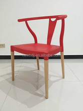 classical design replica Hans J Wegner Y Chair in red color, PP Y chair
