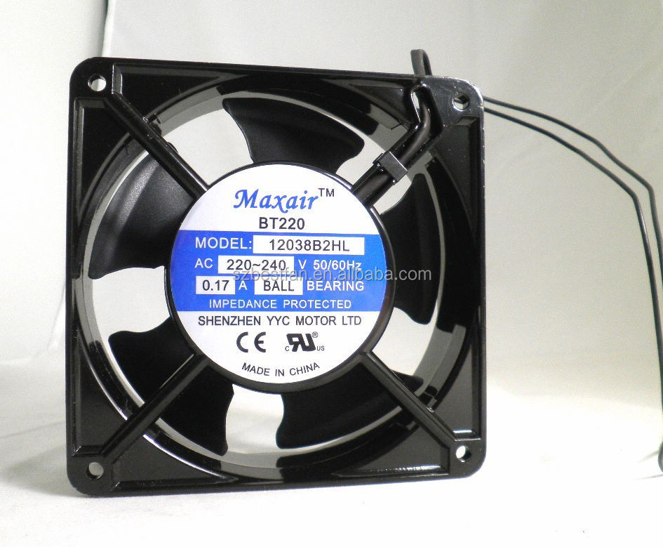 good quality high airflow and high speed 120x120x38mm ac <strong>fan</strong>