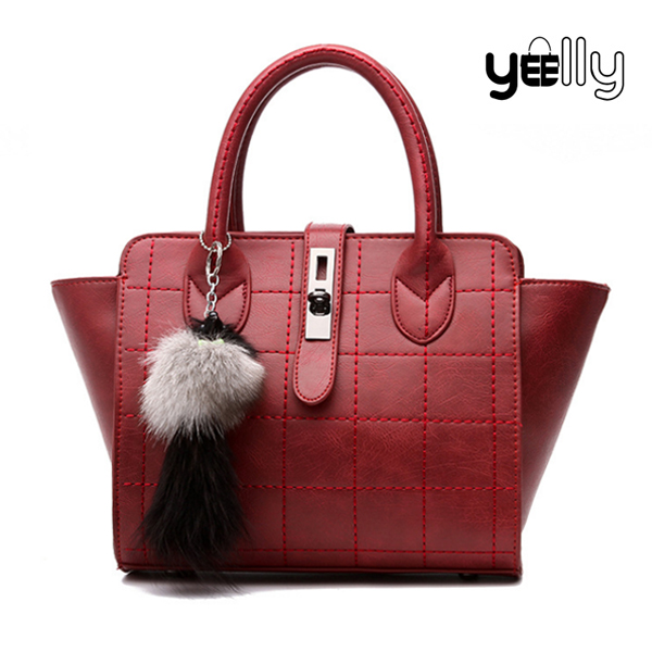 YEELLY High Quality Faux Leather Handbag Import Female Handbag From China