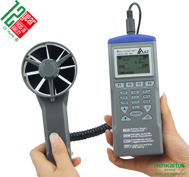 Smart Air Flow Wind Speed Meter Temperature Humidity Monitor Wet Bulb Thermometer Anemometer Data Logger