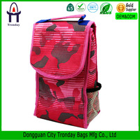 Aluminium kid cooler bag for school frozen food lunch bag with bottle pocket