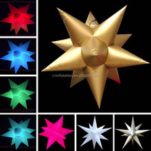 Party/holiday decoration 12 pointed Inflatable star including hanging fan unit