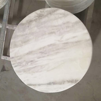 White Volakas Stone Marble Table Top Replacement