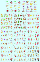 11 in one Christmas celebration natural and false Nail Art Stickers Water Transfer Decal