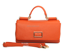 S312-A2107delicate orange leather bag women stylish 2015 fashion handbags