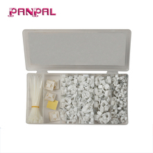 Plastic white electric wire rope wall cable clips with cable tie self adhesive tie mounts