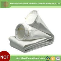 Polyester dust filter bag for lead smelting roasting process