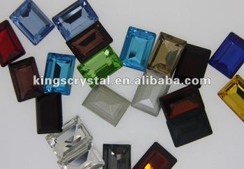 4610 shinning crystal stone High Quality Step Cut rectangle shape fancy stones