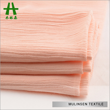 Mulinsen Textile Hot Sale Air Jet Woven Solid Color Viscose 30s*24s Crinkle Rayon Crepe Fabric