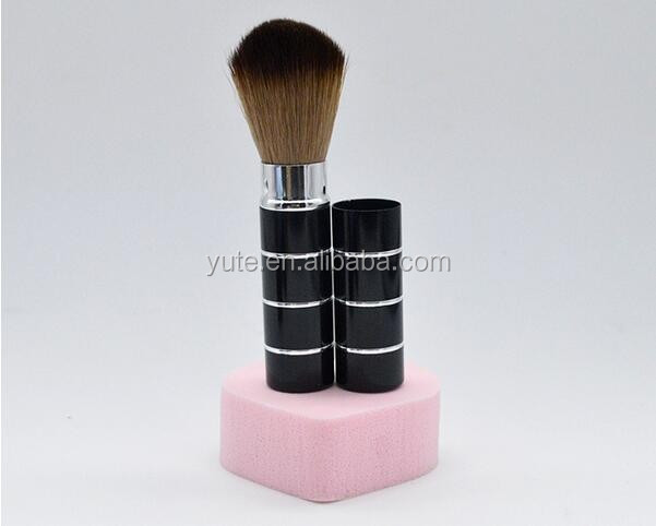 Branded Retractable Rose Gold Makeup Brushes