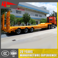 Foshan Golden Tandem Axle Drop Deck/ Low Loader Semi Trailer For Heavy Machinery