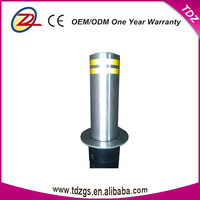 Stainless steel hydraulic rising bollards parking bollard with remote control