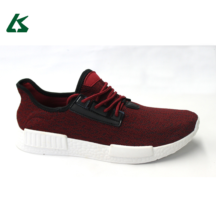 Fly knitting upper and injection PVC sole women sport shoes