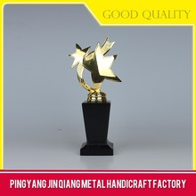 China Supplier Wholesale Engraved Metal Trophy And Awards For Gift
