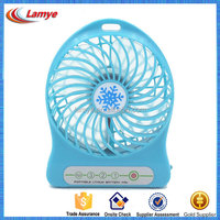 CE RoHS UL Portable Mini Fan with 18650 rechargeable lithium battery