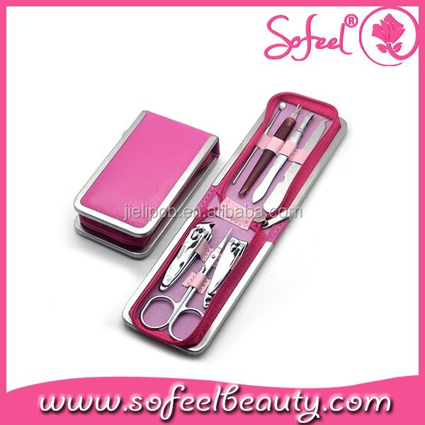 6pcs professional manicure pedicure tool sets