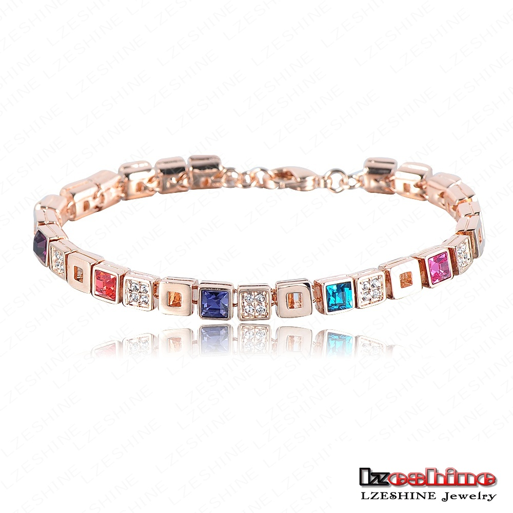 Top Luxury Women Brand Bracelet Real 18K Rose Gold Plated Genuine SWA Stellux Austrian Crystal Fashion Bracelets ITL-BR0013