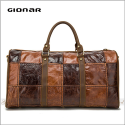 NO MOQ Low Price Men Cosmetic Travel Parts Wholesale Leather Duffle Bag