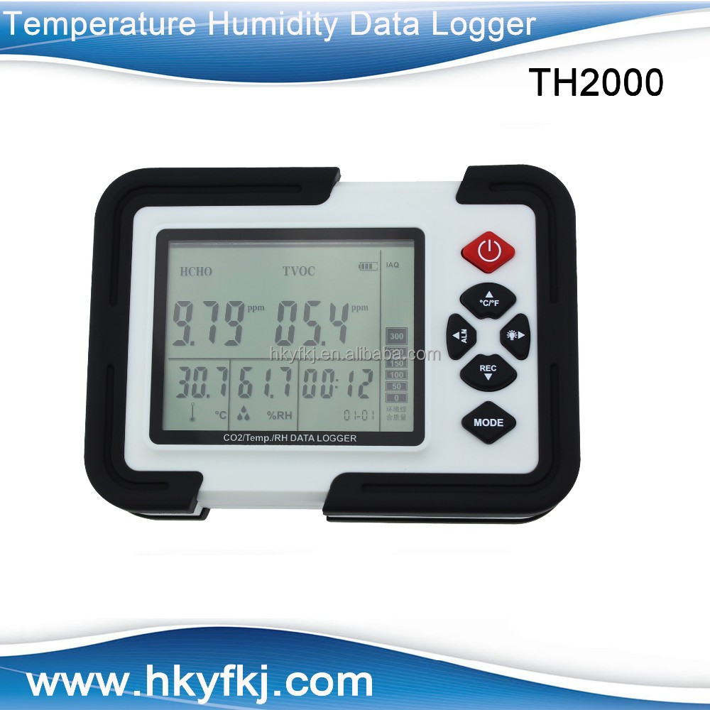 Air quality detector auto laboratory usb thermometer with hygrometer co2 sensor