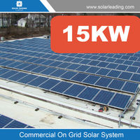 New design 15kw solar mounting brackets include monocrystalline solar panel also with on grid tie solar inverter