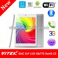 Hot selling RK3066 Dual Core Five Point Capacitive Android 4.1 WiFi 3G Tablet pc 9.7